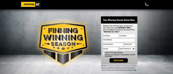 Customized Sweepstakes Case study – Finning Canada